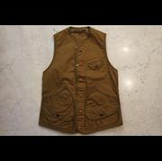 """「FREEWHEELERS/フリーホイーラーズ」GREAT LAKESブランド  モデル名 """"Bridgeport/ブリッジポート"""" Original Cotton Chino Drill VEST Lot #2121004 Col RED BROWN"""