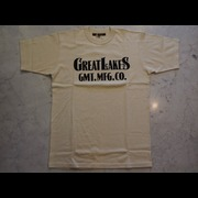 """「FREEWHEELERS/フリーホイーラーズ」「GREAT LAKES GMT.MFG.CO./グレイトレイクス」ブランド モデル名 """"GREAT LAKES LOGO"""" Tシャツ Lot #2125029 Col STRAW CREAM"""