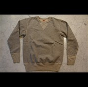 "「DELUXEWARE/デラックスウエア」 ""S100 シリーズ"" ""50s HEAVY SWEATER Heavy weight Knit"" FLAT.SEAM PLAIN スウェット Lot S101-P Col 杢GRAY"